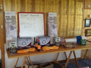Gravelly beach hire trophies